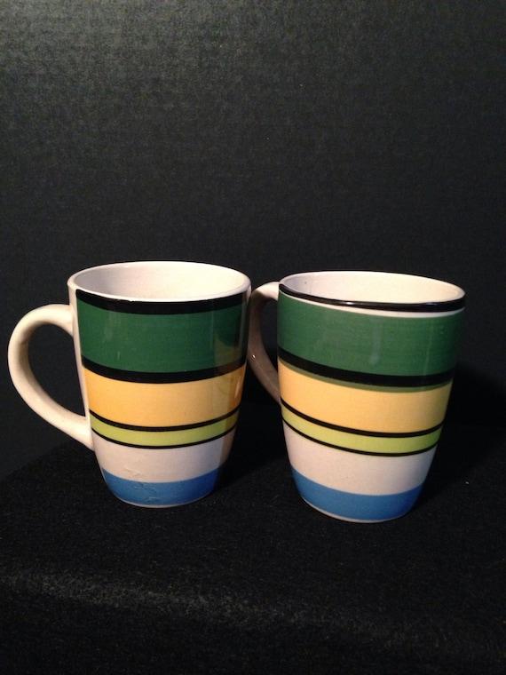 Emerald Coffee Mug Set Modern Art Design