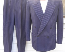 Incredible High-End 1930s-40s Double Breasted Suit -- Size ML / 41R-42R