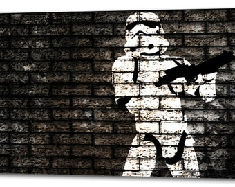 Stormtrooper Star Wars CANVAS PRINT Home Wall Decor Art Movie Painting