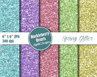 80% OFF SALE Digital Glitter Paper, Spring Glitter Paper, Glitter Paper, Glitter Texture, Blue, Pink, Purple, Green