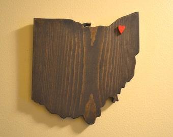 Ohio Wall Art with Heart