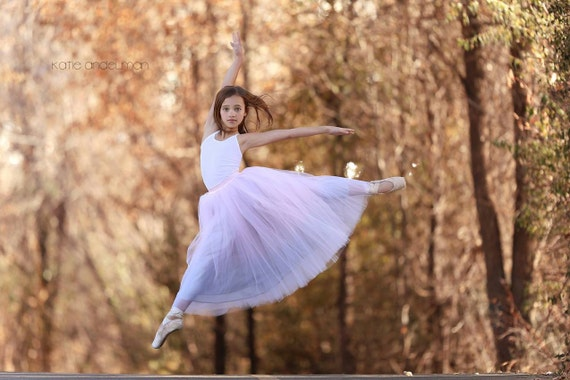 Dancing Ballerina: hand dyed ombre tulle skirt