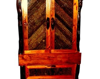 Rustic Custom Designed Handmade Lodge Armoire, free delivery 28734 & surrounding areas