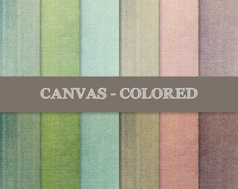 Canvas Digital Papers: Colored, Dirty, Distressed, Grungy ~ Canvas Texture ~ Woven Fabric (Cotton, Linen) Texture