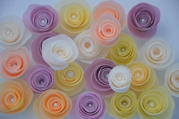 12 fleurs comestibles pour gâteau, fleurs en papier Wafer, fleurs  comestibles pour les gâteaux