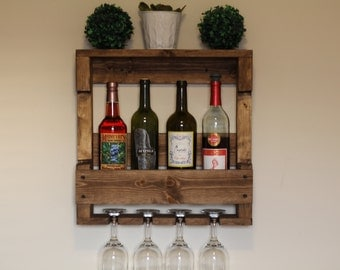 Rustic Wooden Wine Rack, Gifts for Him, Rustic Home Decor, Housewarming Gift, Wedding Gift, Wine Rack, Wooden Wine Rack, Rustic Wine Rack