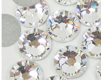 Glass Crystal clear flat back gems nail rhinestones SS20 -100 PCS AAA quality