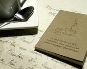 50% OFF SALE ~ scent | memories ~ haiku notebook, journal, pocket jotter, sketchbook, diary, cahier, original art, ink drawing, illustration