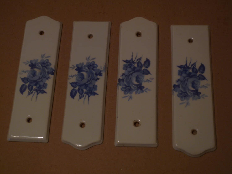 4 plaques de propret pour les portes en porcelaine de limoges for Plaque de proprete porte