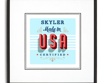 Made in the USA Personalized Art Print