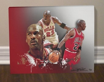 MICHAEL JORDAN Chicago Bulls Canvas Art Print - Free Shipping within the United States. !!