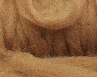 Scottish Alpaca Tops - Fine Fibre for Spinning, Natural Caramel colour - not dyed.