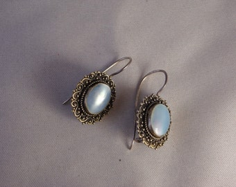 Mother-of-Pearl Victorian Earrings