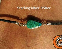 Handmade Braided Black Leather Anklet Turquoise Stone Women's Surfer Anklet Lady Necklace Girls