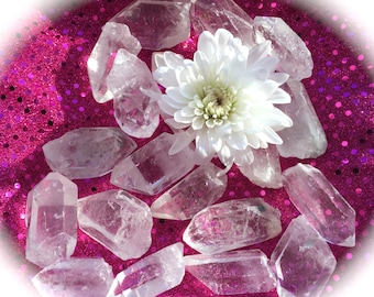 Quartz Point, Premium Quality, Crystal Grid, Charged under Full Moon, Chakra, Magic and Spell Work, Use in Tarot Readings!
