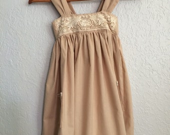 Pinafore with Vintage lace