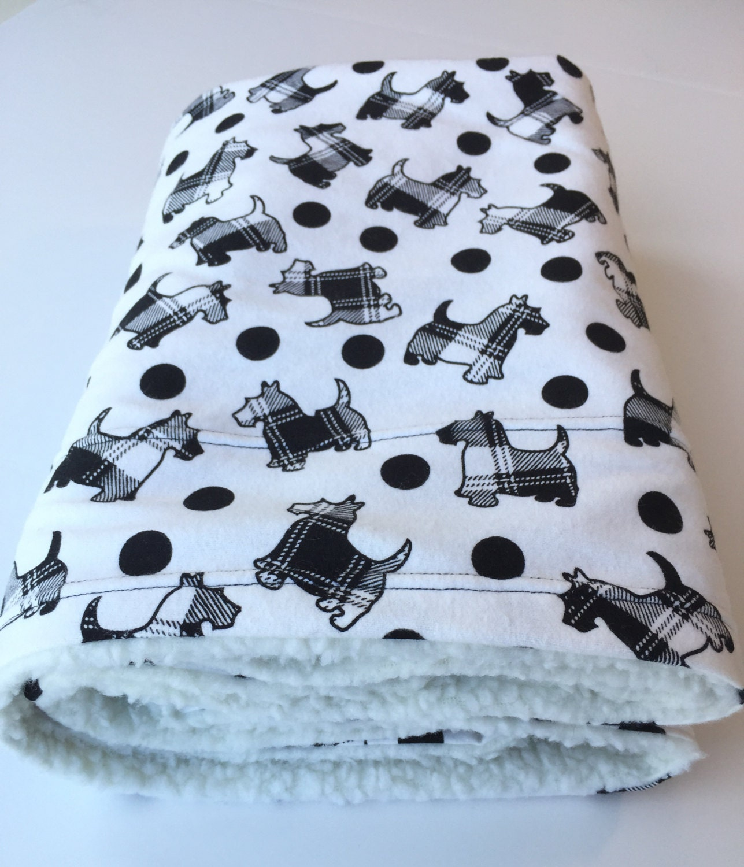 Dog Proof Throw Rugs: Scottie Dog Blanket Pet Blanket Scotty Baby Blanket Dog