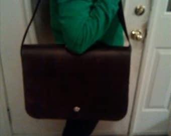 Leather Messenger/Laptop Bag