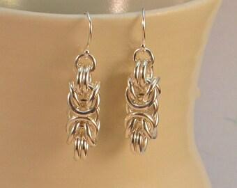 EAB2 - Sterling Byzantine Earrings