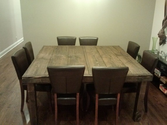 Square Farmhouse Table Reclaimed Wood Farmhouse by  : il570xN706173243rm95 from www.etsy.com size 570 x 428 jpeg 38kB