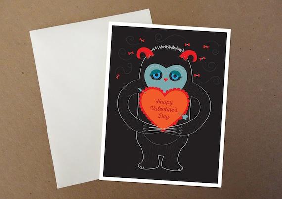 Sad Monster Valentine Card