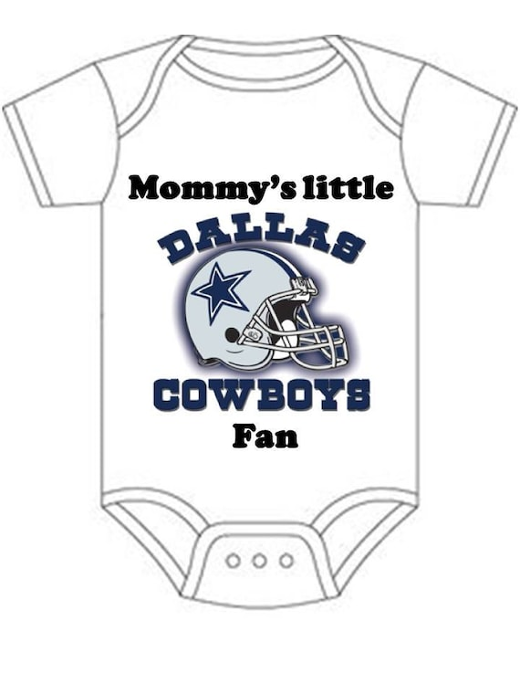 ON SALE Dallas Cowboys Mommys little fan Shirt onesie you