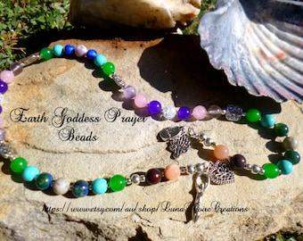 Healing Earth Goddess Devotional Rosary or Prayer Beads