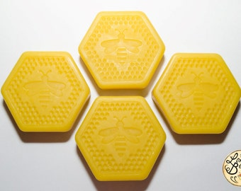 4 x Pure Beeswax Blocks - 260g (4 X 65g) Hexagonal Candle Polish woodworking