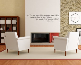 Famous Helen Keller Quote Wall Decal