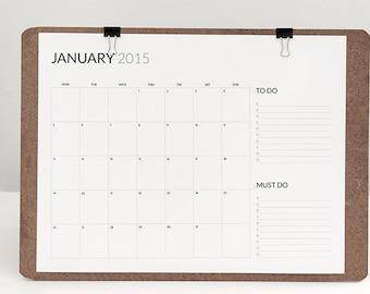 2015 minimum and functional calendar printable