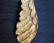 Beautiful Gold Bronze Artisan Handmade Angel Wing Bracelet Link (one) (A)
