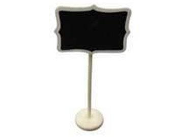 Standing Chalkboard Table Number Holder - Large Rectangle
