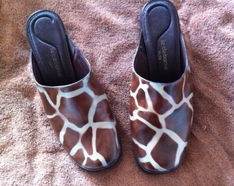 Vintage Painted Giraffe Shoes