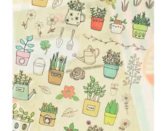 Cute Stickers, Plants Sticker, Flowers Sticker, Scrapbooking