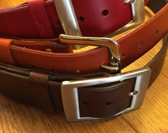 Leather belt - made to order