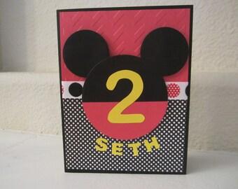 Mickey Mouse Custom Birthday Card