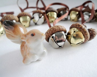 Real Acorn Ornaments. Woodland Decor, Rustic wedding, Waldorf decorations, Home decor by FairyOakWoodLand. Set of 10