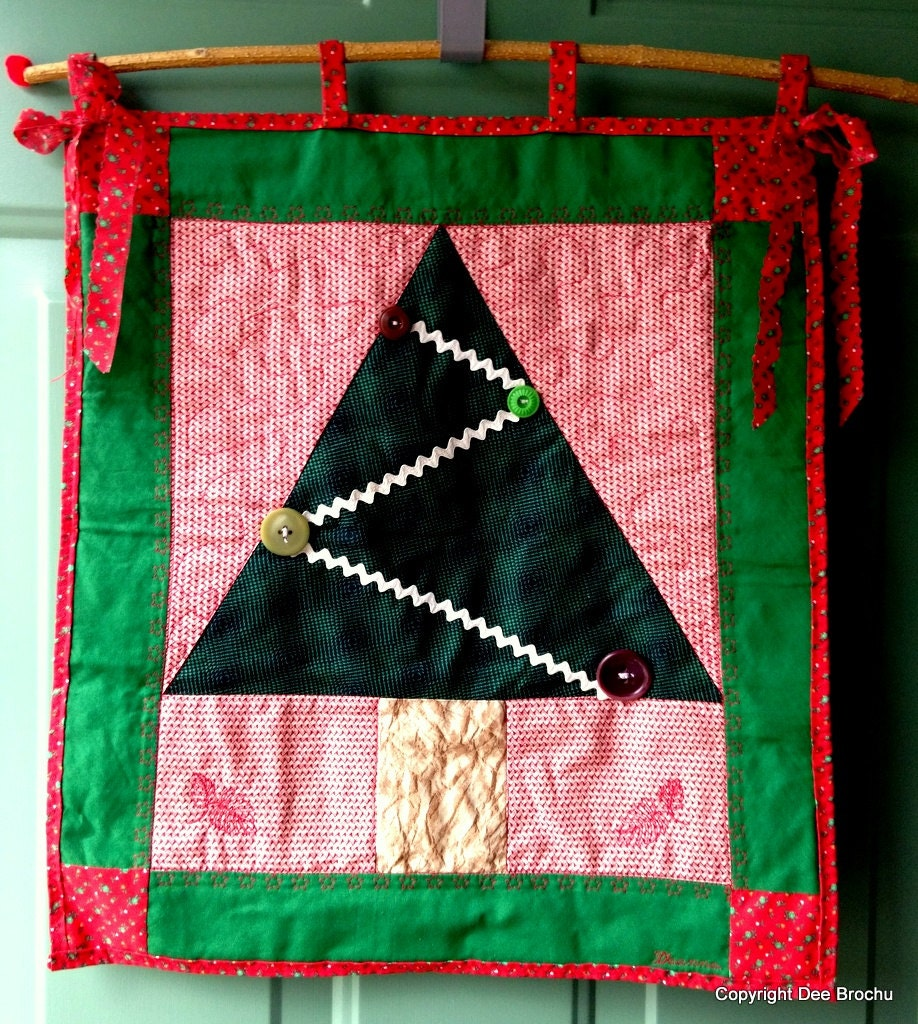 Quilt Wall hanging Christmas Tree Holiday by ...