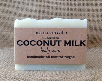 Coconut Milk Soap, Unscented, Vegan, All Natural
