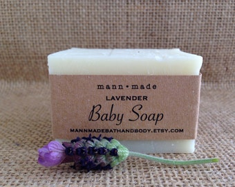 Lavender Baby Soap -  All Natural, Vegan, Approx. 3oz