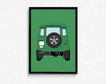 Land Rover Defender A3 Print