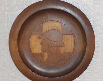 WWII Swiss Grenzbesetzung 1939 - 1941 commemorative wooden plate