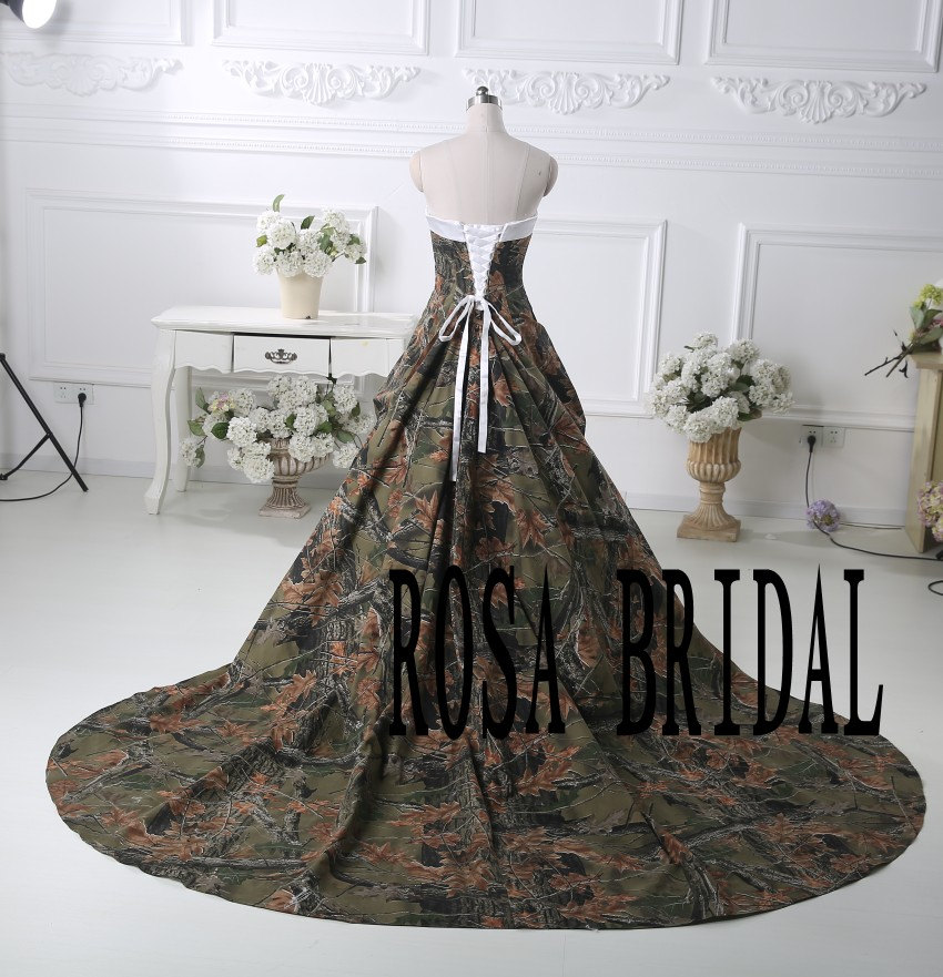 Camo Wedding Dresses: Camo Bridal Dress Camouflage Wedding Gown Camo By Rosabridal