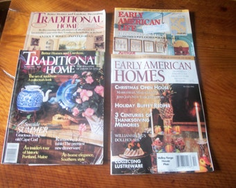 2Traditional Home and 2 Early American Homes Magazines