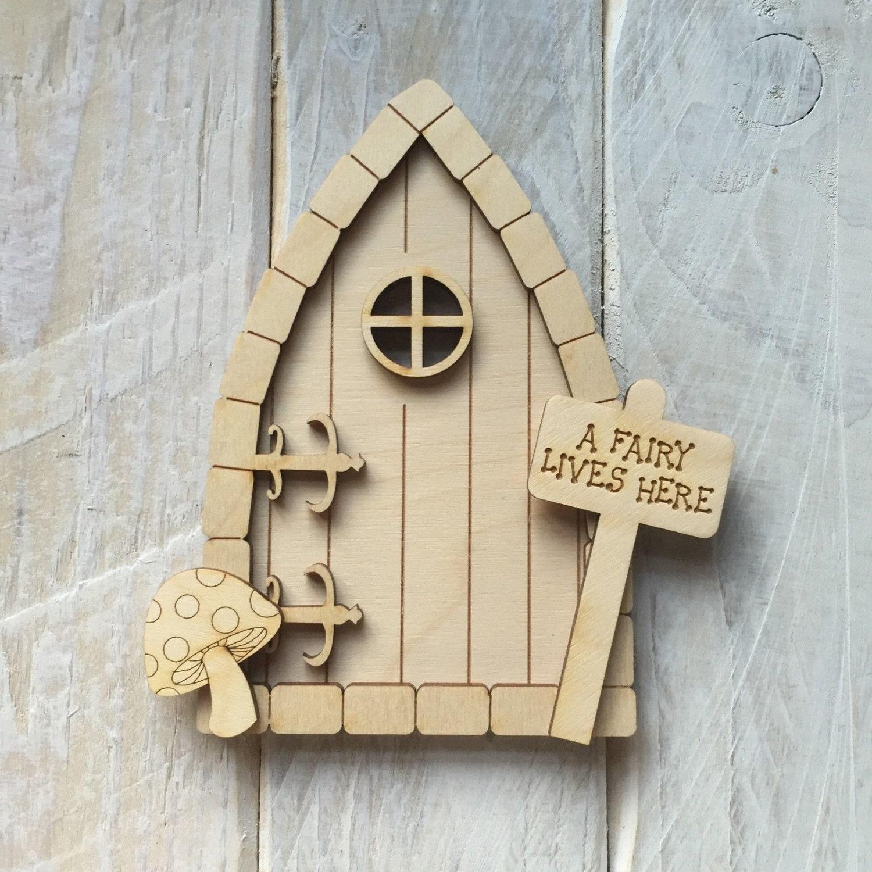 Wooden fairy door pixie door craft shape code by for Fairy door shapes