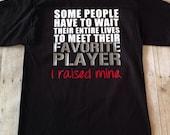 Favorite Athlete, Favorite Player, I Raised Mine T-Shirt Football, Baseball, Soccer, Basketball, Volleyball, Sports Mom Shirt, Sports Dad