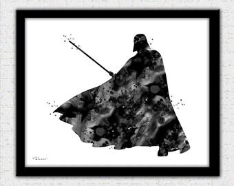 Darth Vader print, Star Wars poster, Darth Vader art poster, Star Wars art, Darth Vader illustration, Darth Vader painting print