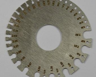 Steel round wire SWG & MM measuring measure gauge millimetres sheet metal tool