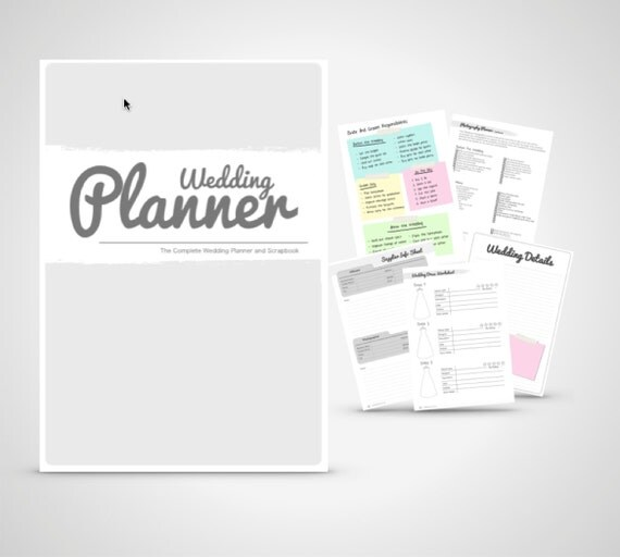 Complete Wedding Checklist: Wedding Planner Book Wedding Organizer Print By