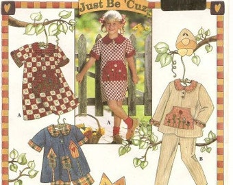 VINTAGE Simplicity Pattern 7019 Child's Dress, Top, Pants and Shorts